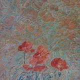 134 - Coquelicots - Huile - 81 x 60 cm