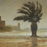 117 - Coup de vent sur Collioure - Huile - 65 x54 cm