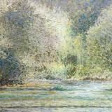 120 - Douceur des bords de Sèvre - Huile - 65 x 92 cm - Collection particulière