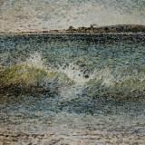 125 - La vague - Huile - 54 x 81 cm - Collection particulière