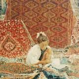 111 - La marchande de tapis - Huile - 73 x 54 cm - Collection particulière