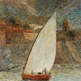 118 - Barque catalane - Huile - 55 x 46 cm - Collection particulière