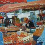 143 - Le marché - Huile - 81 x 65 cm