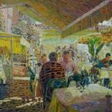 172 - Terrasse à Menton - Huile - 73 x 100 cm - Collection particulière
