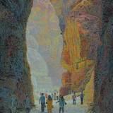 194 - Dans les gorges de Pétra - Huile - 73 x 60 cm