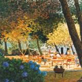 34 - La terrasse - Huile - 81 x 65 cm - Collection particulière