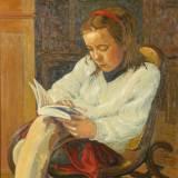 61 - Lecture - Huile - 81 x 65 cm - Collection particulière