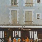 69 - L'estaminet - Huile - 73 x 54 cm - Collection particulière