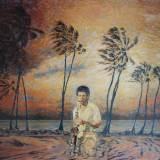 106 - Un saxo dans les îles - Huile - 81 x 100 cm - Collection particulière