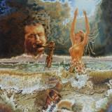35 - Le saxophoniste - Huile - 146 x 114 cm