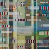 190 - Hasparren - Huile - Acrylique - Tissus - 65 x 92 cm