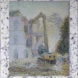 204 - Démolition 2 - Huile-Acrylique - 81 x 65 cm - Etude