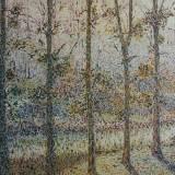 166 - La Sèvre à Monnières - Huile - 54 x 81 cm
