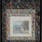 180 - Défile - Huile - Acrylique - Tissus - 100 x 81 cm